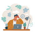 tired young businessman vector image vector image