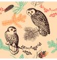 Vintage animal patterns vector image