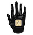 virtual reality gloves icon vector image