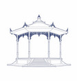 vlue drawing of an old bandstand vector image vector image