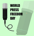 world press freedom day with microphone vector image vector image