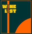 template design for wine list vector image