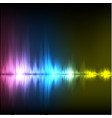 abstract equalizer background purple-blue-yellowe vector image vector image