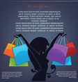 Background with girl silhouette and shopping bags vector | Price: 1 Credit (USD $1)