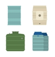 Barrel capacity tanks vector image vector image