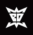 bd logo monogram with crown up down side design vector image vector image