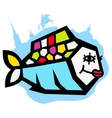 beautiful river fish logo vector image vector image