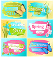 best choice big spring sale adver tag label poster vector image