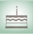 birthday cake sign brown flax icon on vector image vector image