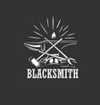 blacksmith logo design vector image vector image
