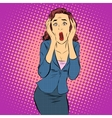 Businesswoman screaming pain horror emotions vector image vector image