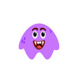 cartoon flat happy monsters violet icon colorful vector image vector image