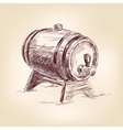 cask of wine drawing vector image vector image