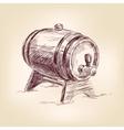 cask wine drawing vector image vector image
