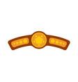 champion belt award for winning boxing tournament vector image vector image