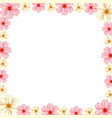 cherry blossoms frame vector image