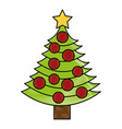 christmas tree decorative icon vector image vector image