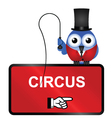 Comical Circus Sign vector image vector image