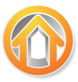 contour house building symbol icon or logo vector image