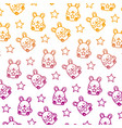 degraded line cute mice funny animals background vector image vector image