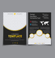 design 2 pages of a4 black with yellow elements vector image vector image