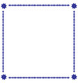 frame blue 1 801 vector image vector image
