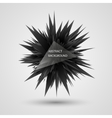 Geometric background Abstract black explosion vector image vector image