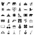 good world icons set simple style vector image vector image