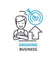 growing business concept outline icon linear vector image