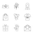 happy mama day icon set outline style vector image vector image