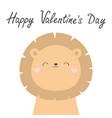 happy valentines day koala bear face head cute vector image vector image