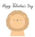 happy valentines day koala bear face head cute vector image