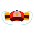hat with a pair of beer cans vector image vector image