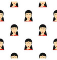 indian girl pattern seamless vector image vector image