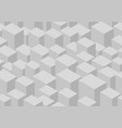 isometric cube seamless pattern vector image