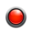 Large red button vector image