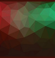 light green red triangle mosaic background a vector image vector image