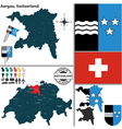 Map of Aargau vector image vector image