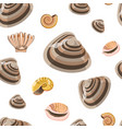 marine conches and shells sealife seamless vector image