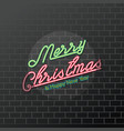 merry christmas happy new year neon sign vector image vector image