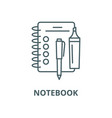 notebook line icon linear concept outline vector image vector image