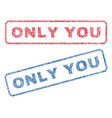 only you textile stamps vector image vector image