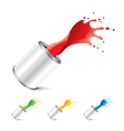 paint can isolated vector image vector image