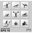 People exercising for health and fitness vector image