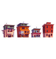 poor dirty houses buildings in ghetto area vector image vector image