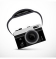retro film or digital camera vector image vector image