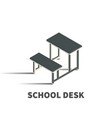 school desk icon symbol vector image