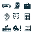 School isolated icons vector image vector image
