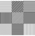 seamless abstract striped patterns vector image