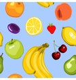 seamless summer fruit background vector image vector image